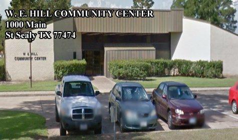 W E HILL COMMUNITY CENTER 1000 Main St Sealy TX 77474