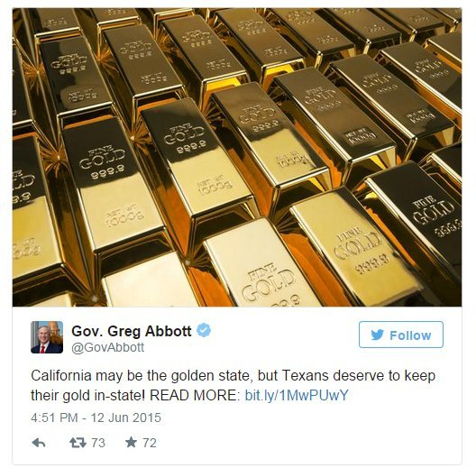 Gold Depository Tweet