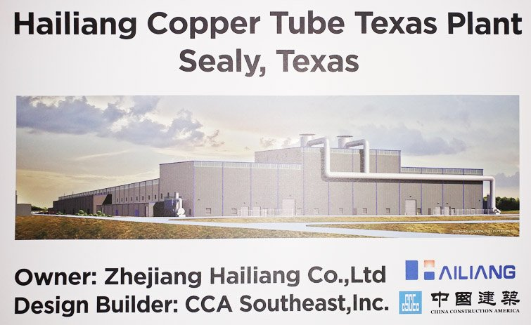 Hailiang Copper Tube Texas Plant Opening Announced at Ceremony [VIDEO]