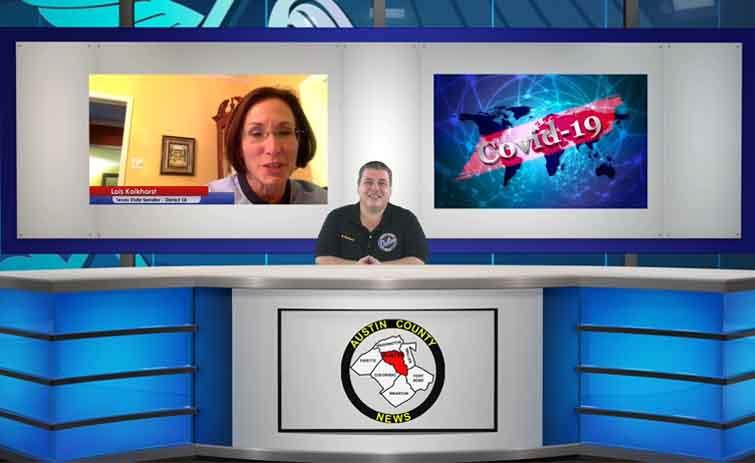 Senator Lois Kolkhorst Gives COVID-19 Update To Her District