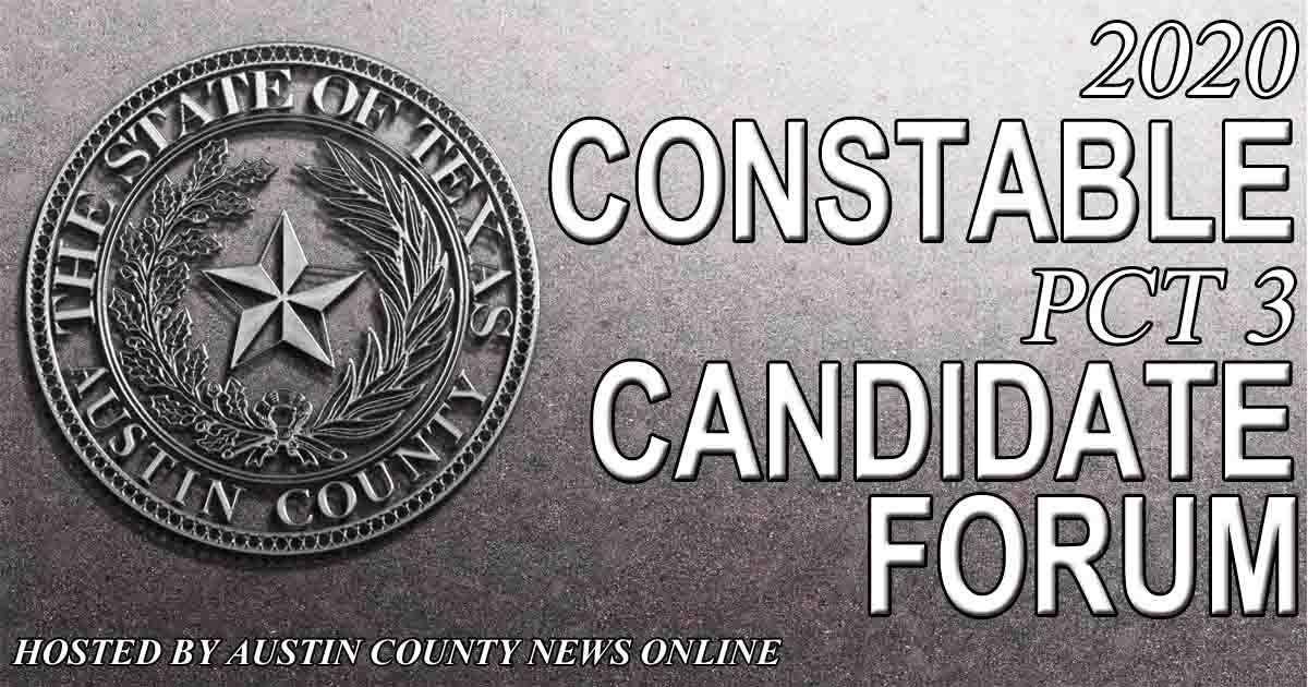 2020 Constable Pct 3 Candidate Forum [VIDEO]