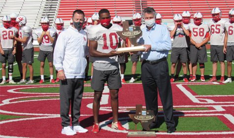 Richard Reese Presented With Player of the Week Award