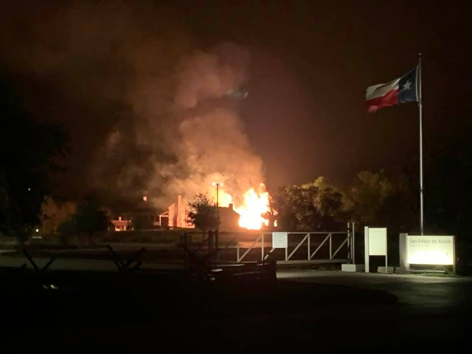 San Felipe De Austin Museum Building Fire [VIDEO]
