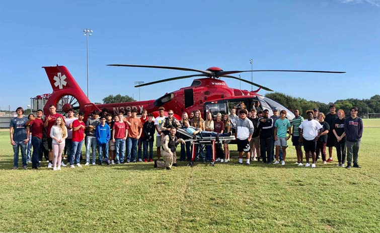 Washington County EMS Air Medical Visits Bellville High School Students